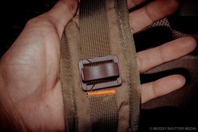 Shoulder strap close up.
