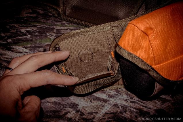 Magnetic flap shotgun holder (Open)